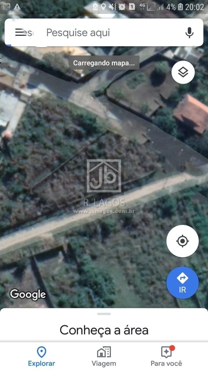 Ótimo terreno residencial ou comercial de 600 m², com RGI, no bairro Monte Alegre em Cabo Frio